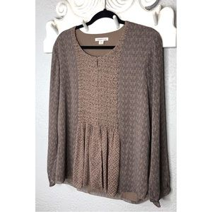 Coldwater Creek beaded blouse L